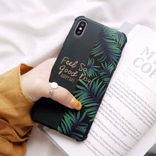 Load image into Gallery viewer, Nordic Style Cactus Floral Minimalist Art Phone Case For iPhone XR XS Max 6 6S 7 8 Plus X Soft IMD Palm Leaves And Quotes Anti-Knock Case
