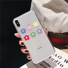Load image into Gallery viewer, Floral Love Heart Transparent Phone Cases For iPhone X XS Max XR 6 6S 7 8 Plus Case Soft Silicone Anti-Knock Protective Back Case For iPhone