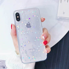 Load image into Gallery viewer, Glitter Stars Clear Case For iPhone X XS MAX XR X 10 iPhone 7 8 Plus Anti-Knock Glittery Transparent Case For iPhone 6 6S Plus iPhone 8 Plus