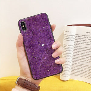 Pink Sparkle Glitter iPhone Case for iPhone X XR XS MAX Anti-Knock Clear Glittery Case for iPhone 6 7 8 Plus Soft TPU Fitted Phone Case Pink Purple
