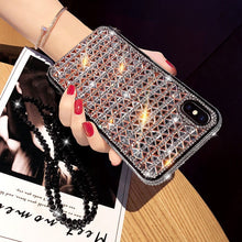 Load image into Gallery viewer, Luxury Bling Fashion Glitter Diamond Rhinestone Case For iPhone XS Max XS X Cases For iPhone 6s 7 8 Plus Sparkling Sequins Cover For iPhone XR Case