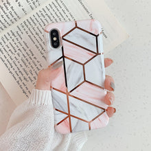 Load image into Gallery viewer, Colorful Geometric Marble Case For iPhone 11 Pro Max XR XS Max 6 6S 7 8 Plus X Soft Protective Fitted Back Cover Cute Case For iPhone