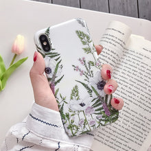 Load image into Gallery viewer, Vintage Floral Phone Case For iPhone 11 Pro Max XR XS Max 6 6S 7 8 Plus X Soft Silicon Protective Fitted Case Back Cover for iPhone