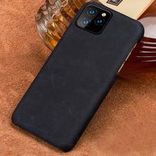 Load image into Gallery viewer, Vintage Leather Half Wrapped Fitted Phone Case For iPhone 11 11 Pro 11 Pro Max X XS XR XSMAX 6s 7 8 Plus 6 5 5S SE Plus Real Leather