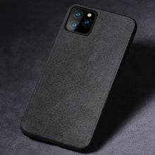 Load image into Gallery viewer, Suede Leather Alcantara Phone Case For Apple iPhone 11 11 Pro 11 Pro Max X XR XS XS Max 6 6S 7 8 Plus Fitted Phone Case For iPhone