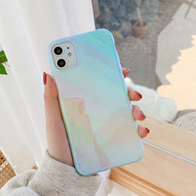 Load image into Gallery viewer, Glossy Blue Ray Marble Gradient Phone Case For iPhone 11 Pro Max XR XS Max 7 8 Plus X Protective Back Cover For iPhone 11 XR 7 8
