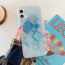 Load image into Gallery viewer, Geometric Glitter Leaf Tropics Phone Case For iPhone 11 Pro Max XR XS Max 6 6S 7 8 Plus X Soft Fitted Back Cover Case