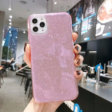 Load image into Gallery viewer, Fashion Bling Colorful Gradient Color Glitter Case For iPhone 11 Pro Max Phone Cases Soft TPU Scratch Resistant Silicone Back Cover