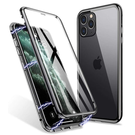Magnetic Adsorption 360 Protection Case for iPhone 11 Pro Max XS Max XR X Double Sided Tempered Glass Metal Frame Cover for iPhone 7 8 6s 6 Plus Case