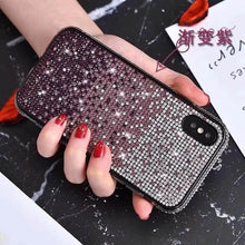 Load image into Gallery viewer, Bling Diamond Glitter Luxury Fitted Case for iPhone X XS XR MAX Anti-Knock Rhinestone Jeweled Soft TPU Case For iPhone 6 6Plus 7Plus 8 8Plus Case