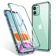 Load image into Gallery viewer, Magnetic Adsorption 360 Protection Case for iPhone 11 Pro Max XS Max XR X Double Sided Tempered Glass Metal Frame Cover for iPhone 7 8 6s 6 Plus