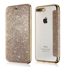 Load image into Gallery viewer, Glittering Bling Soft PU Leather Flip Wallet High Quality Fashion Case For iPhone 11 Pro XS Max XR X 8 8Plus 7 7 Plus 6 6s Plus 5 5S SE Card Holder Case 4 Colors