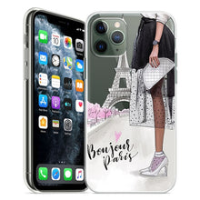 Load image into Gallery viewer, In Vogue iPhone Fashion Case For iPhone 11 Pro Case 5S 6 6S 7 8 Plus X XS Max Compact Lightweight Stylish Soft TPU Transparent Case for iPhone