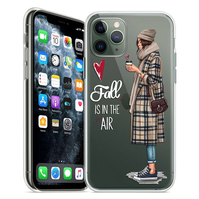 In Vogue iPhone Fashion Case For iPhone 11 Pro Case 5S 6 6S 7 8 Plus X XS Max Compact Lightweight Stylish Soft TPU Transparent Case for iPhone