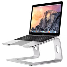 Load image into Gallery viewer, MacBook Desktop Stand Stylish Sturdy Raised Platform Universal Laptop Pedestal Constructed From Aluminum Alloy With Silicon Skid Plates Black or Silver