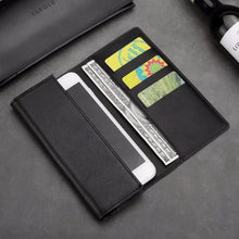 Load image into Gallery viewer, Luxurious Real Leather Phone Card Holder Wallet Case For iPhone 11 Pro Max 6s 7 8 Plus X Xs Max Wallet Genuine Leather Executive Style Flip Case For iPhone