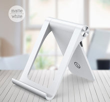 Load image into Gallery viewer, Mobile Phone Stand For iPhone Universal Modern Styling Adjustable Desktop Holder Phone Stand For Tablet In Black or White Suitable For Most Mobile Devices