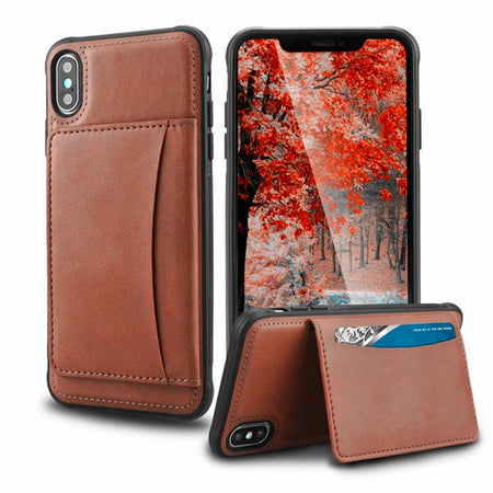 Premium Card Holder Leather Wallet iPhone Case 11 Pro SE 2 X XR XS Max 6 6S 7 8 Plus Shockproof Durable Case With Kickstand