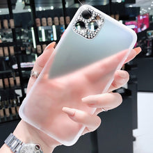 Load image into Gallery viewer, Luxury Diamond Matte Transparent Phone Case For iPhone 11 Pro X XR XS Max 7 8 Plus Soft Silicone Jeweled Camera Protection Phone Cover For iPhone SE 2020