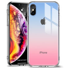 Load image into Gallery viewer, Tempered Glass Screen Protector Case For iPhone XR XS XS Max Protective Glass Cover + Frame For Apple iPhone XR XS XS Max Glossy Mirrored Case