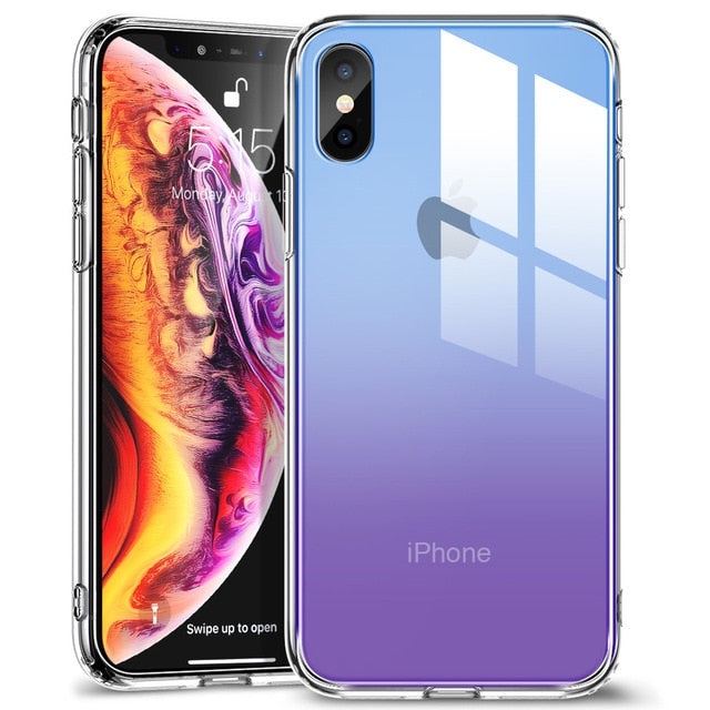 Tempered Glass Screen Protector Case For iPhone XR XS XS Max Protective Glass Cover + Frame For Apple iPhone XR XS XS Max Glossy Mirrored Case