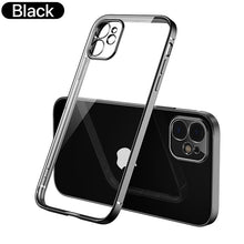 Load image into Gallery viewer, Square Edge Frame Design Transparent Case For iPhone 11 Pro Max 12 X XR XS MAX SE 2020 7 8 Plus Tribute Classic Soft TPU Case