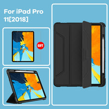 Load image into Gallery viewer, Durable Heavy Duty Case For iPad 9.7 iPad Pro 11 iPad 10.2 iPad Pro 12.9 case Shock Proof Corners Smart Flip Cover For iPad Case With Screen Protector Options