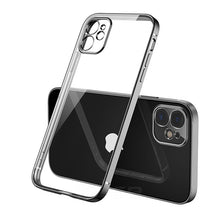 Load image into Gallery viewer, Luxury Classic Square Frame Design Transparent Case For iPhone 11 Pro Max 12 iPhone SE 2020 XS Max XR 6 6S 7 8 Plus Soft Ultra Thin Clear Cover