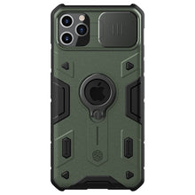 Load image into Gallery viewer, Impact Resistant Camshield Armor Phone Case for iPhone 12 11 Pro Max With Slide Camera Protection Case for iPhone 11 Pro Max Black & Army Green Phone Case