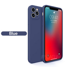 Load image into Gallery viewer, Next Generation Classic Square Edge Case For iPhone 11 Pro XS Max Soft Liquid Silicone Cover For iPhone 12 X XR 6 6s 7 8 Plus SE 2020 Phone Case