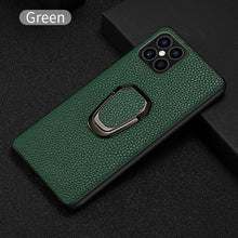 Load image into Gallery viewer, Premium Textured Genuine Leather Luxury iPhone Cover With Magnetic Kickstand For 12 Pro Max SE 2020 11 Pro Max X XS Max XR 6 7 8 Plus Case