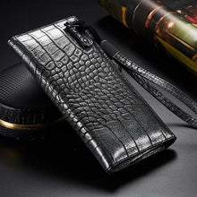 Load image into Gallery viewer, Universal Crocodile Leather Wallet Case For iPhone Card Slots Phone Bag Pouch For iPhone Retro Classic Luxury Vintage Deluxe Case For All iPhone Models