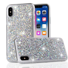 Load image into Gallery viewer, Glitter & Sequins Slim Shockproof Fitted Case for iPhone 11 Pro Xr Xs Max X 8 7 Plus 6 6s 5 5s SE 2020 iPhone 12 Soft TPU Silicone Case Cover For iPhone 2020