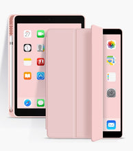 Load image into Gallery viewer, Latest iPad Case For iPad Air 10.9 2020 Drop Resistant Soft Silicone Tablet Case For iPad Air With Auto Sleep/Wake Function Smart Case With Pencil Holder