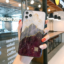 Load image into Gallery viewer, Chic Gold Foil Glitter Marble Phone Cases for iPhone 12 11 Pro Max XR X 8 7 6 Plus Soft Silicone Fitted Case for iPhone XS Max SE 2020