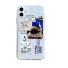 Load image into Gallery viewer, Trendy Bar Code Labels & Stickers Phone Case For iPhone 12Pro 11Pro  12 Mini XS Max X XR 7 8 Plus Soft TPU Anti-Knock Airbag Cover Fitted Case For iPhone