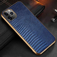 Load image into Gallery viewer, Snakeskin Design Luxury Leather Case For iPhone 11 12 Pro MAX 12 Mini 11Pro 12Pro X XR XS Max Case Premium Plating Soft Edge Back Cover For iPhone 12 Pro