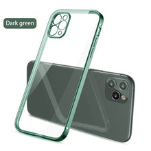 Load image into Gallery viewer, Classic Plain Transparent Square Edge Frame Case For iPhone 12 11 xs Pro Max Mini For iPhone x xr 7 8 Plus SE 2020 Soft TPU Clear Cover Case for iPhone