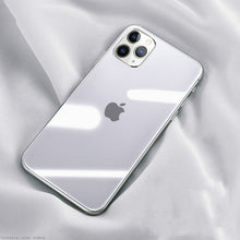 Load image into Gallery viewer, Luxury Tough Transparent Glass Silicon Phone Case For iPhone 12 11 Pro XS MAX XR X SE Clear Tempered Glass Soft Edge Phone Case For iPhone 12 Pro Max