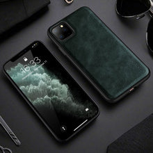 Load image into Gallery viewer, Vintage Leather Style Leather Fitted Cover For iPhone 11 Pro X Xr Xs 6 6S 7 8 Plus SE2 Men Luxury Shockproof Protective Bumper Phone Cover For iPhone