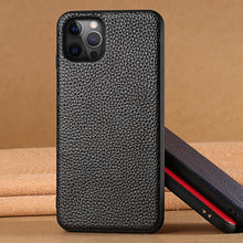 Load image into Gallery viewer, Genuine Grain Leather iPhone Case For iPhone 12 Pro Max 12 Mini 11 Pro Max X XR XS Max 6 6S 7 8 Phone Cover For iPhone Plus Se 2020 Real Leather iPhone Case