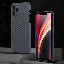 Load image into Gallery viewer, Super Thin Ultra Light Aramid Fiber Cover for iPhone 12 Pro Max 12 3D Precision Engineered Pro Carbon Fiber Case for iPhone 12 Mini 11 XS Max XR 11 Pro