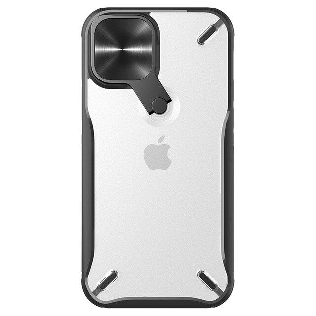 Cyclops Cam Shield Case Protective for iPhone 12 Pro Max With Adjustable Stand Camera Cover Protection Soft TPU Case for iPhone 12/12 Pro 12 Mini