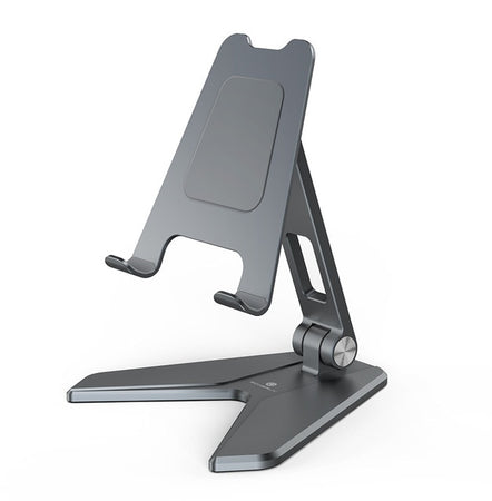 Adjustable iPad Tablet Stand Universal Aluminum Desktop Stand Holder For iPhone Mobile Phone Stylish Ergonomic Design Suitable For Most Tablets & Smartphones