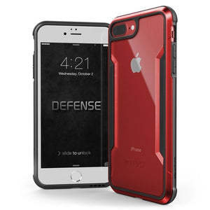 Premium Hybrid Bumper Phone Case For iPhone 7 8 Plus Military Grade Drop Tested Defense Shield Aluminum Protective Case For iPhone 7 8