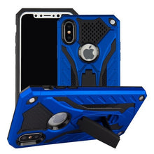 Load image into Gallery viewer, Shock Proof Military Armor Case For iPhone 7 8 Drop Tested Heavy Duty Anti-Knock Silicon Case For iPhone 6 6s Plus X 5 5s SE With Kickstand