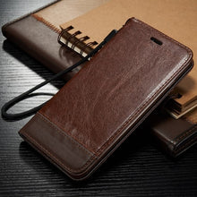 Load image into Gallery viewer, Luxury Real Leather Flip Case For iPhone iPhone X XS Max XR Flip Stand Leather Wallet Phone Case For Apple 6 S 6s 7 8 Plus