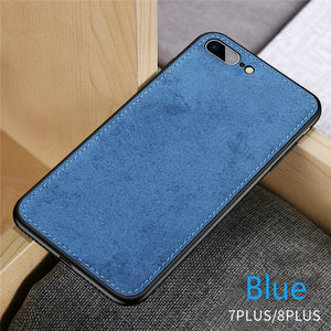 Ultra Thin Canvas Fabric Silicon Phone Case For iPhone 7 8 6 6s Plus X Xs Max Xr Soft Cloth Texture Protective Case for iPhone