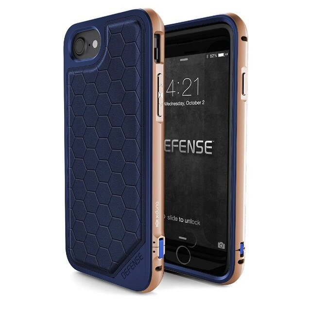 Rugged & Refined Hybrid Case for iPhone 7 and 7 Plus Military Grade Drop Tested Machined Aluminum Protective Cover with Impact Resistant Back