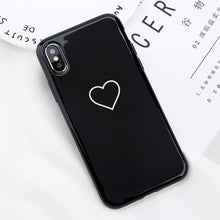 Load image into Gallery viewer, Black KING Pink QUEEN Phone Cases For iPhone XS MAX 6 6s Plus Back Cover Love Couples Phonecases Soft TPU Cases For iPhone XR X 8 7 Plus